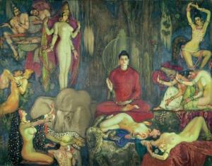 ภาพวาดพระพุทธเจ้า สี original